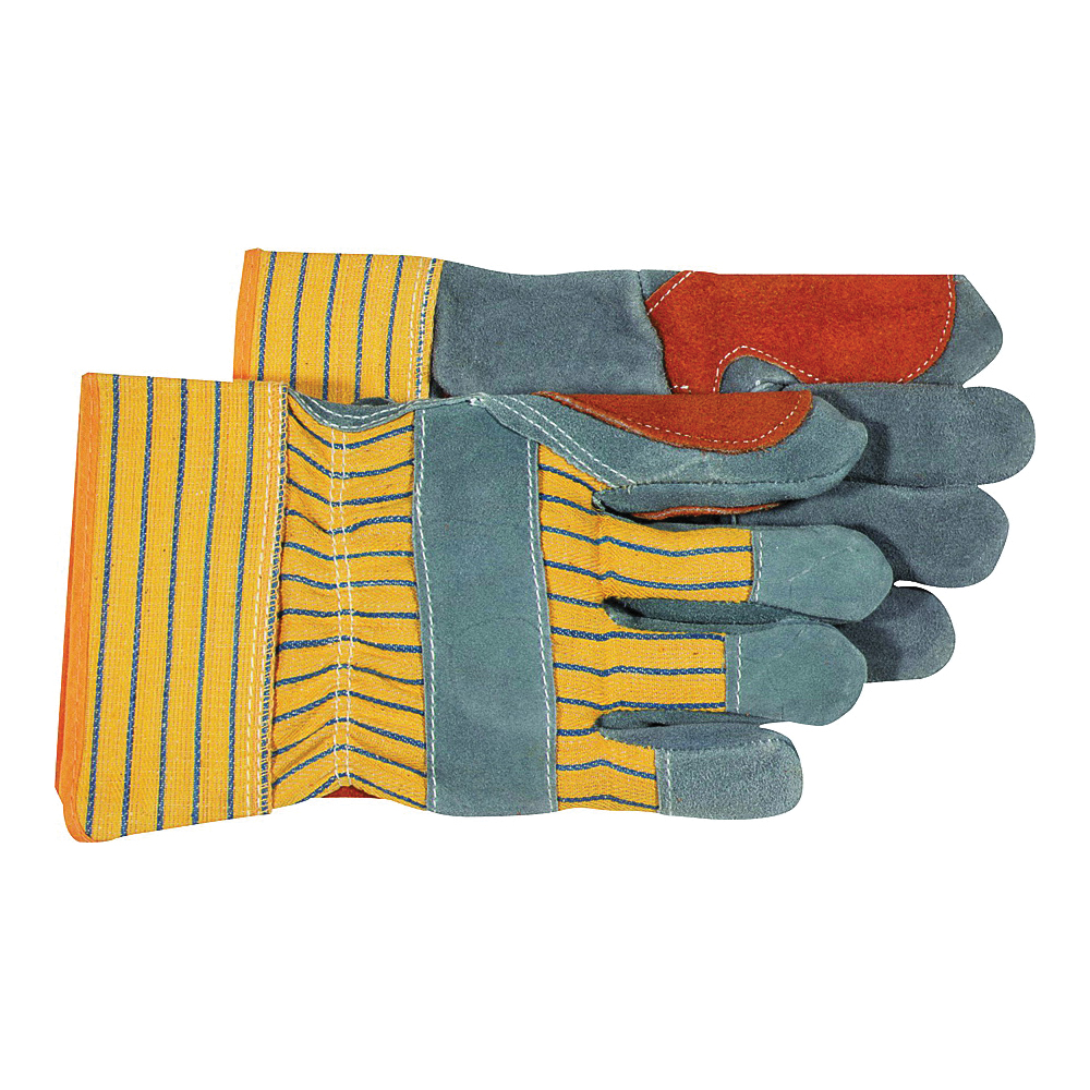 Picture of BOSS 4057 Driver Gloves, L, Rubberized Safety Cuff, Gray/Yellow