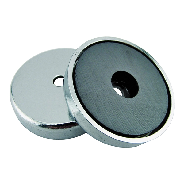 Picture of Magnet Source 07217 Round Base Magnet, Ceramic, 0.866 in ID x 2.04 in OD Dia, 0.303 in H