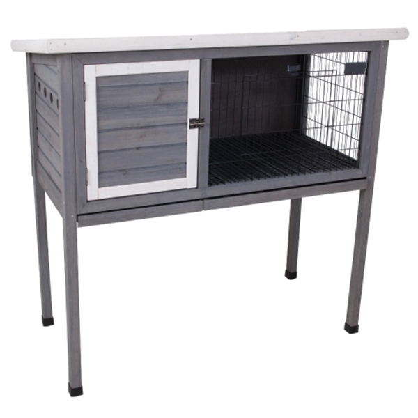 Picture of PETMATE Precision Pet 7029115 Extreme Rabbit Shack II, 46 in W, 24 in D, 48 in H, Wood, Gray/White