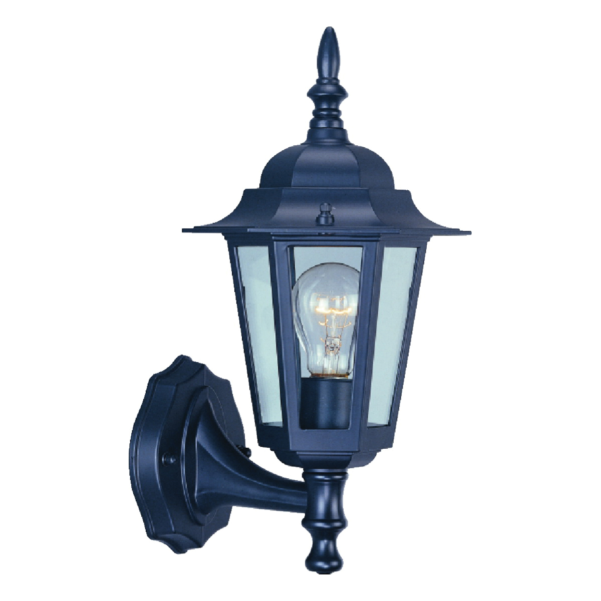 Picture of Boston Harbor AL8041-5 Porch Light Fixture, CFL Lamp, Aluminum Fixture, Black