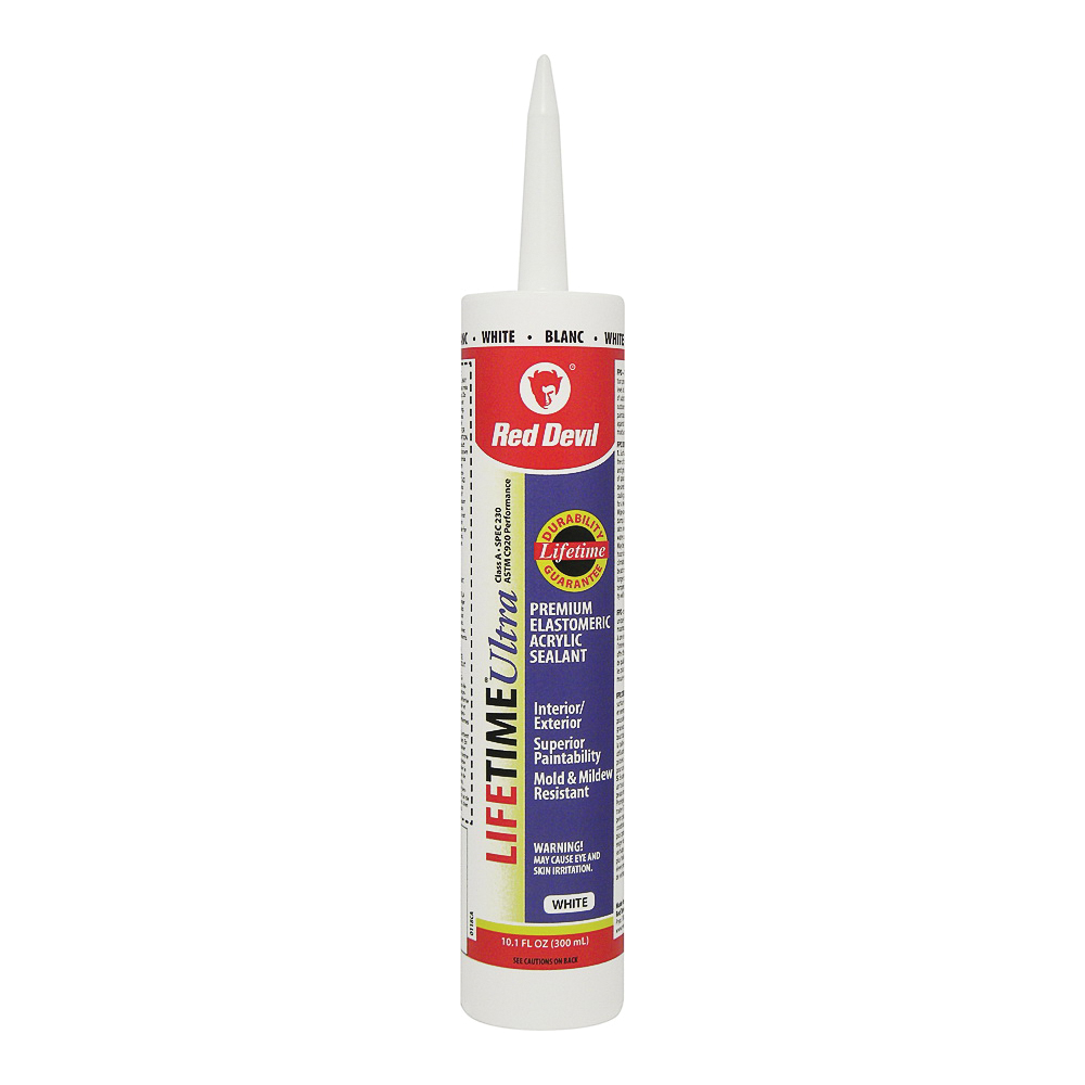Picture of Red Devil 0118CA Latex Caulk, White, 10.1 oz Package, Cartridge