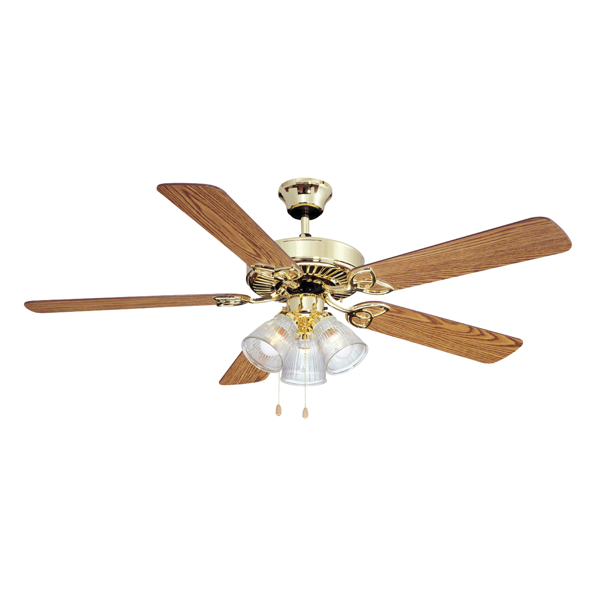 Picture of Boston Harbor CF-78043 Ceiling Fan Light Kit, 0.8 A, 120 V, 5-Blade, 52 in Sweep, 2605 cfm Air
