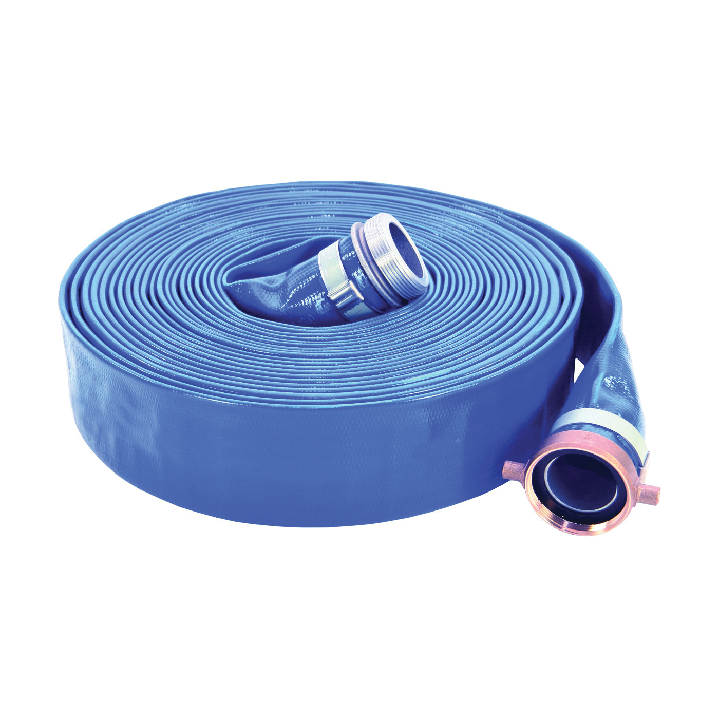 Picture of ABBOTT RUBBER 1148-2000-50-CE Water Discharge Hose, 50 ft L, Female x Male, PVC, Blue