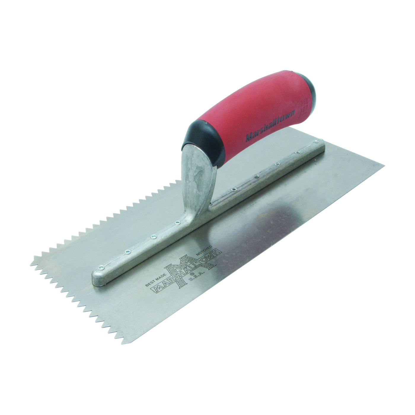 Picture of Marshalltown 780SD Trowel, 11 in L, 4-1/2 in W, V Notch, Curved Handle