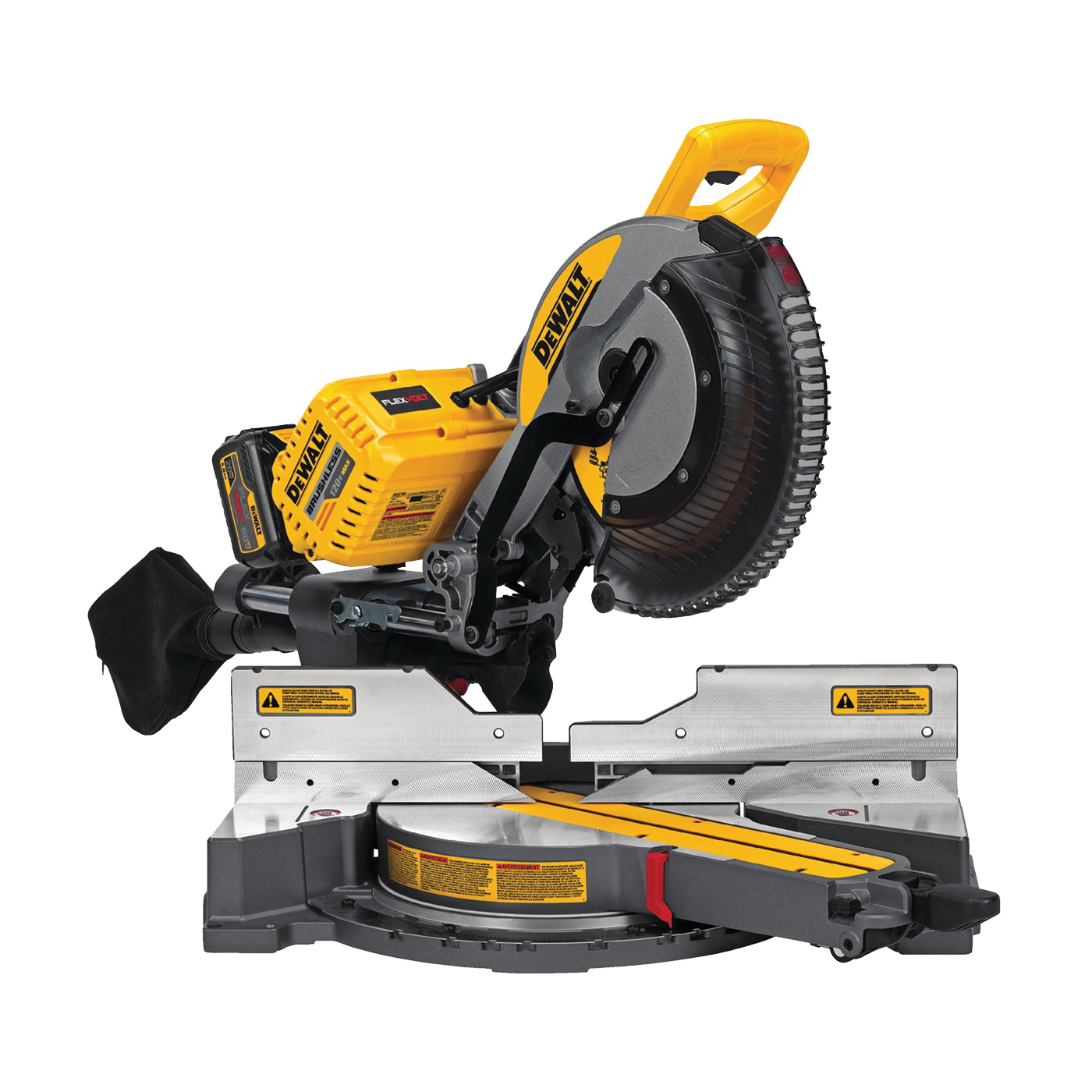 Picture of DeWALT FLEXVOLT DHS790AT2 Miter Saw, Battery, 12 in Dia Blade, 2 x 14 in 45 deg, 2 x 14 in at 90 deg Cutting Capacity