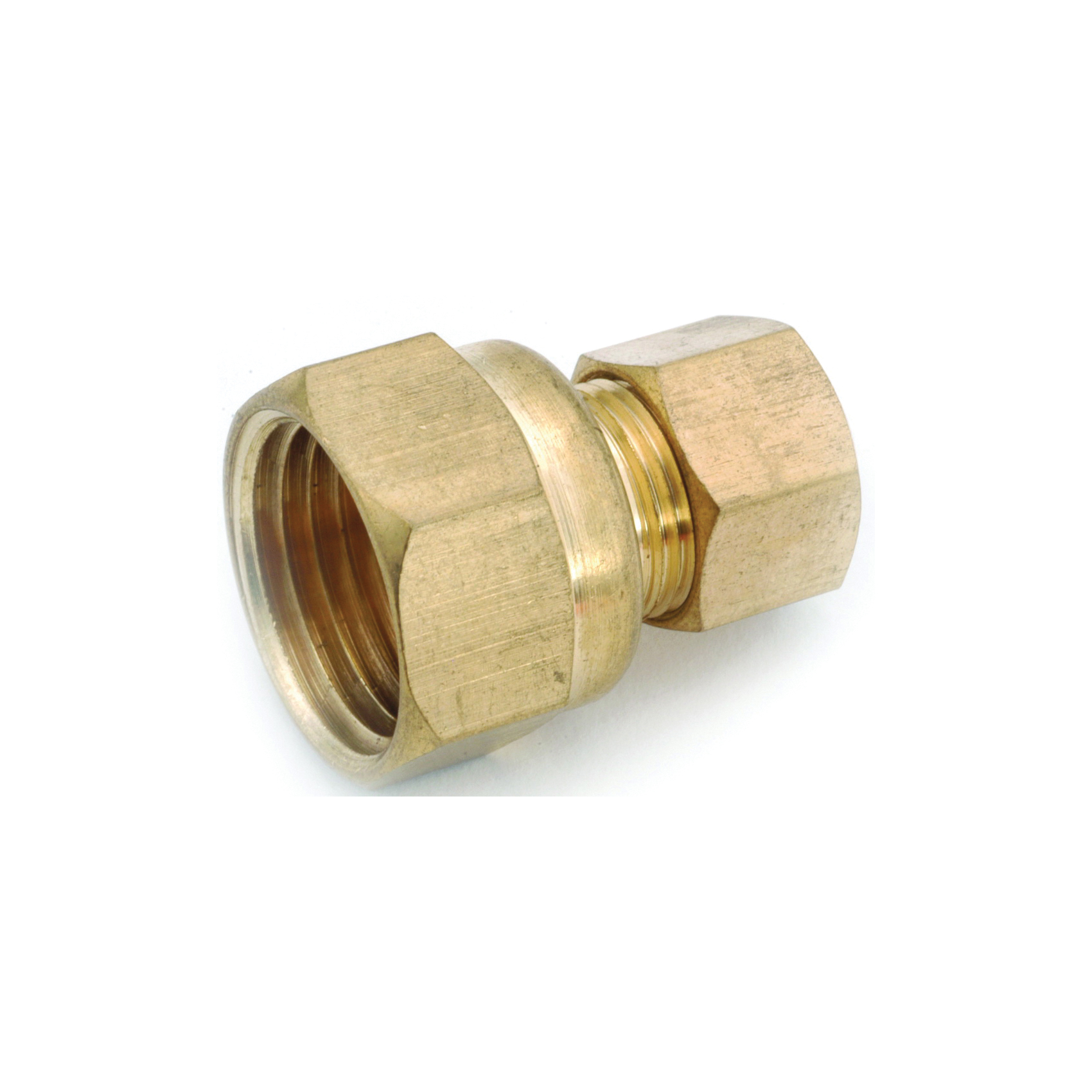 Picture of Anderson Metals 750066-1408 Tubing Coupling, 7/8 x 1/2 in, Compression x FIP, Brass