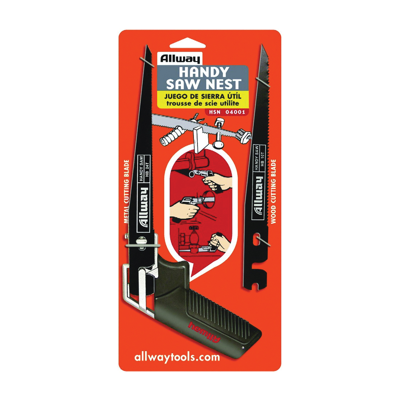 Picture of ALLWAY TOOLS HSN Handy Saw Nest, 7-1/2 in L Blade, 10 and 24 TPI