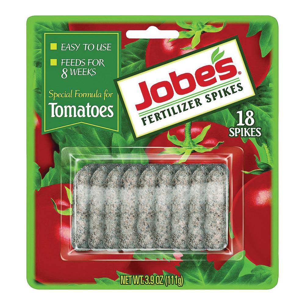 Picture of Jobes 06000 Fertilizer Spike Blister Pack, Spike, Gray/Light Brown, Slight Ammonia, Blister Pack
