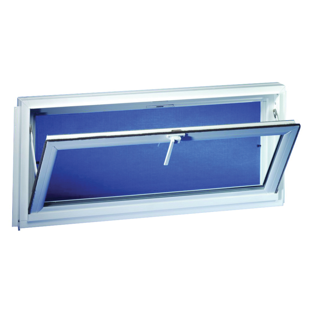 Picture of Duo-Corp Competitor 3218COMP Hopper Basement Window, Insulated Glass Glass/Screen, Vinyl Frame