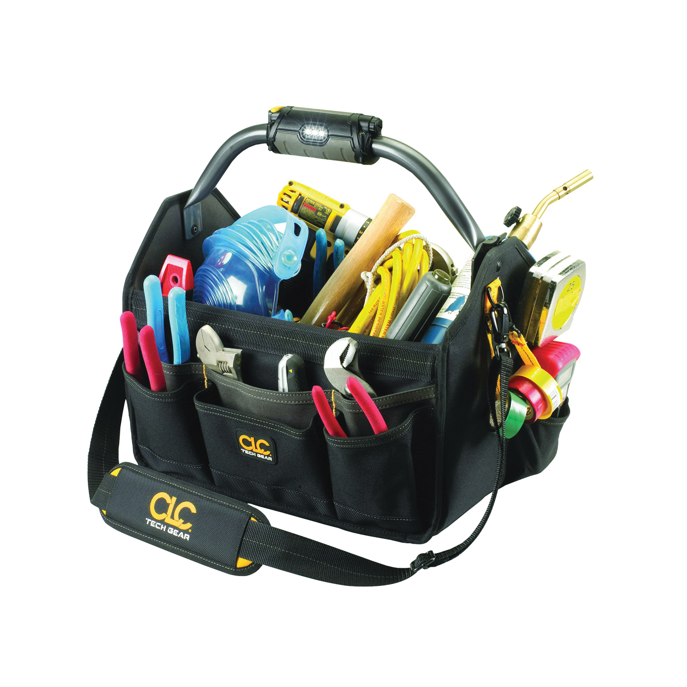 Picture of CLC Tech Gear L234 Open Top Tool Carrier with Handle, 8-1/2 in W, 11-1/2 in D, 15 in H, 22 -Pocket, Polyester