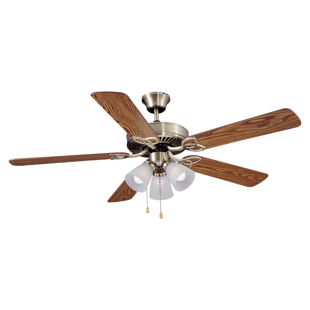 Picture of Boston Harbor CF-78042 Ceiling Fan, 0.8 A, 120 V, 5-Blade, 52 in Sweep, 2605 cfm Air