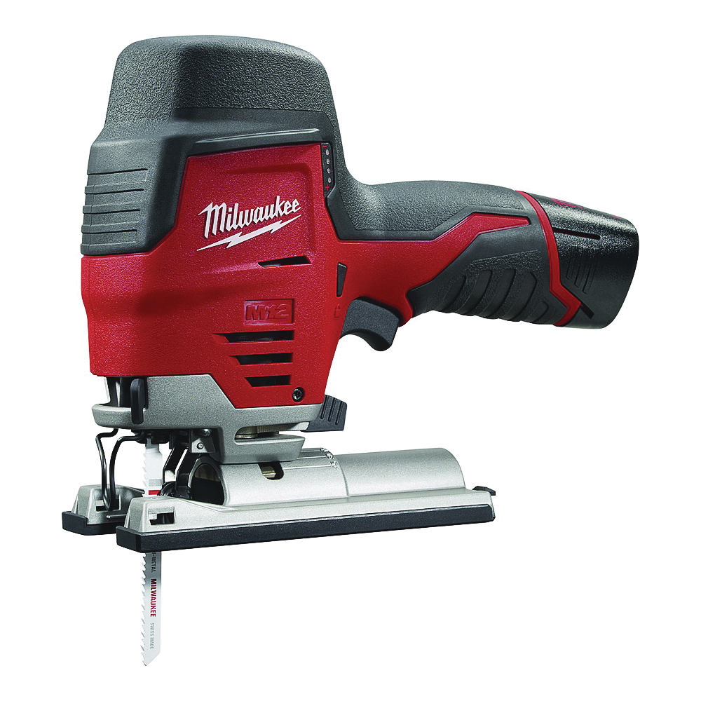 Picture of Milwaukee 2445-21 Jig Saw, Kit, 12 V Battery, 1.5 Ah, 3/4 in L Stroke, 0 to 2800 spm SPM, Battery Included: Yes