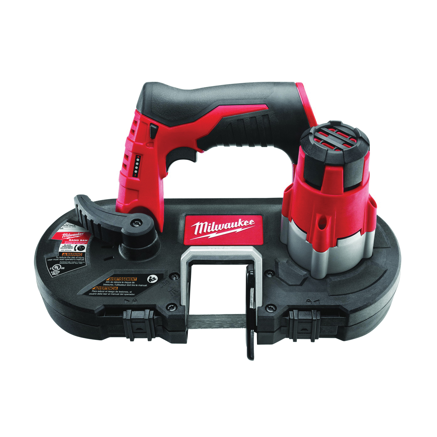 Picture of Milwaukee 2429-20 Cordless Band Saw, Bare Tool, 12 V Battery, 27 in L Blade, 1/2 in W Blade, 1-5/8 in D Throat