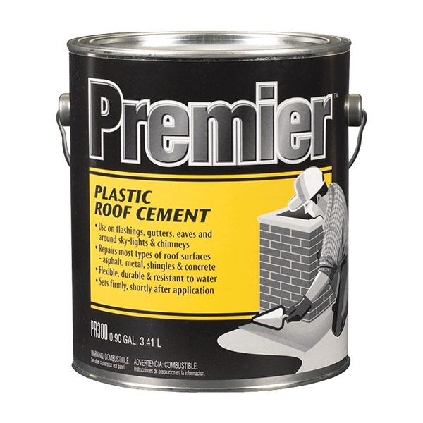 Picture of Henry PR300042 Plastic Roof Cement, Liquid, Paste, Petrol, Black, 0.9 gal Package