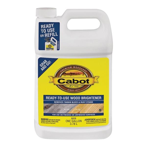 Picture of Cabot Problem-Solver 8008 Wood Brightener, Liquid, 1 gal