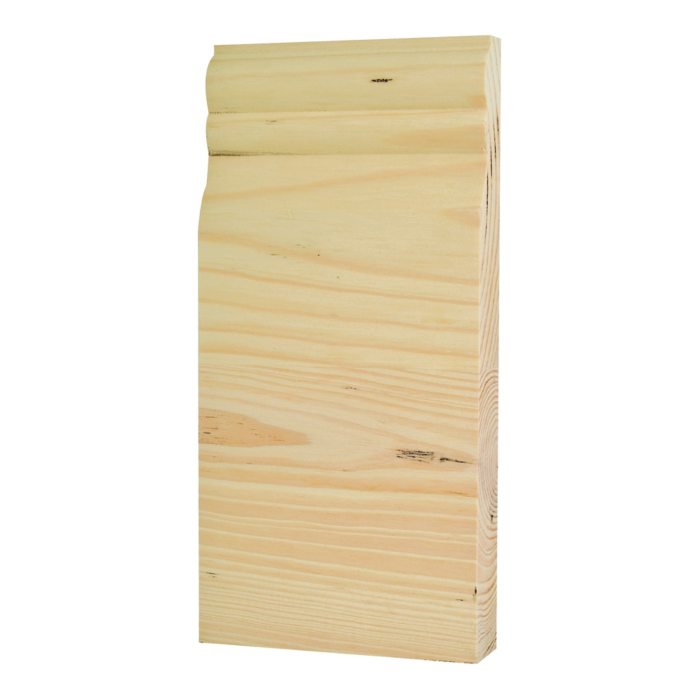 Picture of Waddell BTBC35 Trim Block, 8 in L, 3-3/4 in W, 1 in Thick, Pine Wood