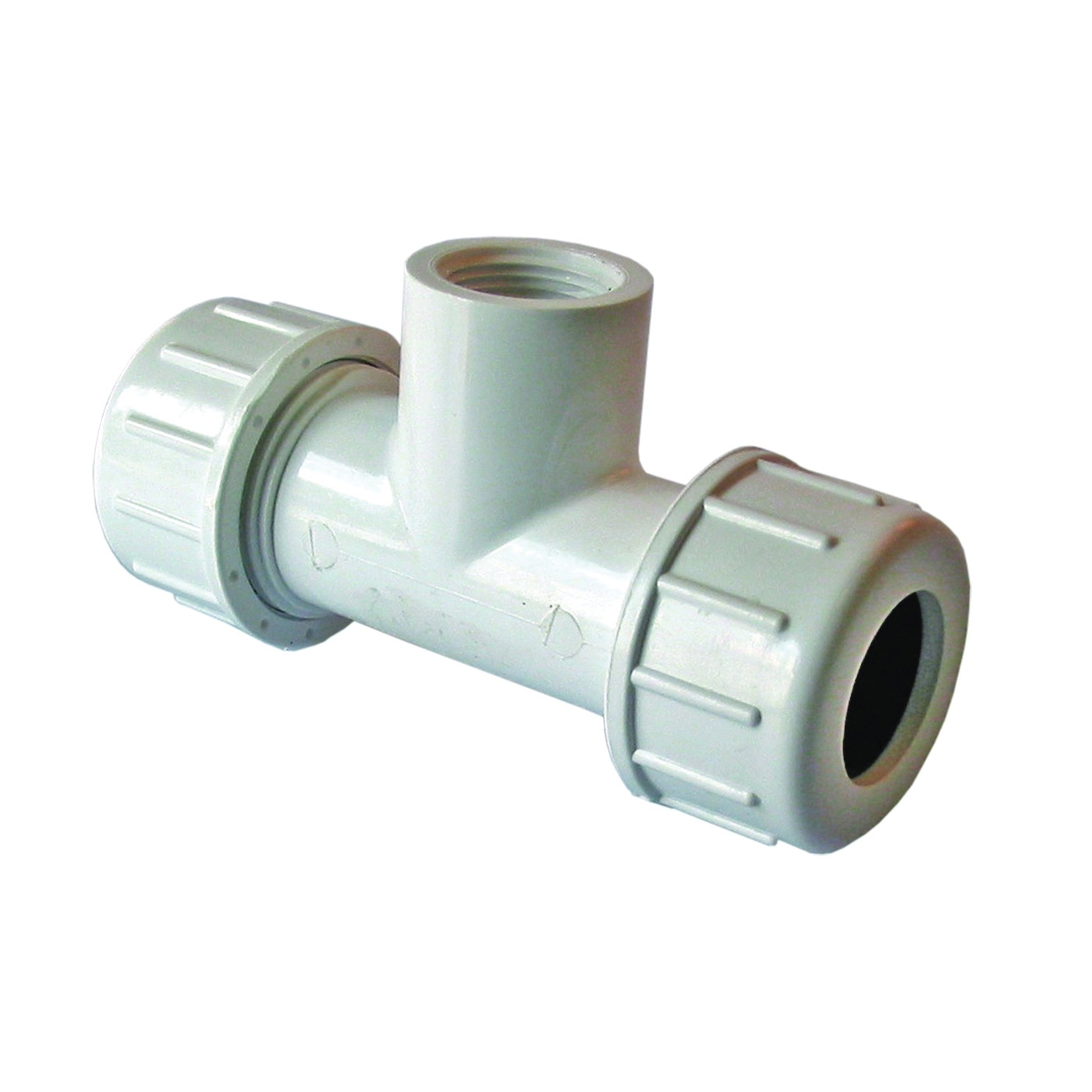 Picture of AMERICAN VALVE P230 1/2 Pipe Tee, 1/2 in Run, Compression x Compression x Female NPT Run Connection, 1/2 in Branch