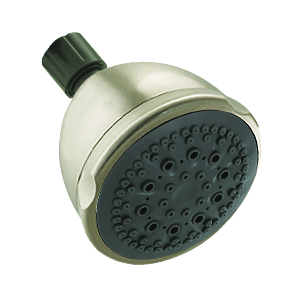 Picture of Peerless 76574SN Shower Head, 2 gpm, 1/2 in Connection, IPS, ABS, Brushed Nickel, 3-11/16 in Dia