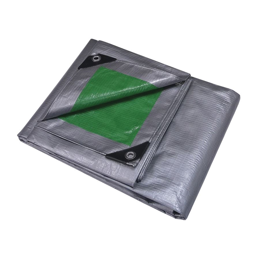 Picture of ProSource T1620GS140 Tarpaulin, 20 ft L, 16 ft W, 8 mil Thick, Polyethylene, Green/Silver