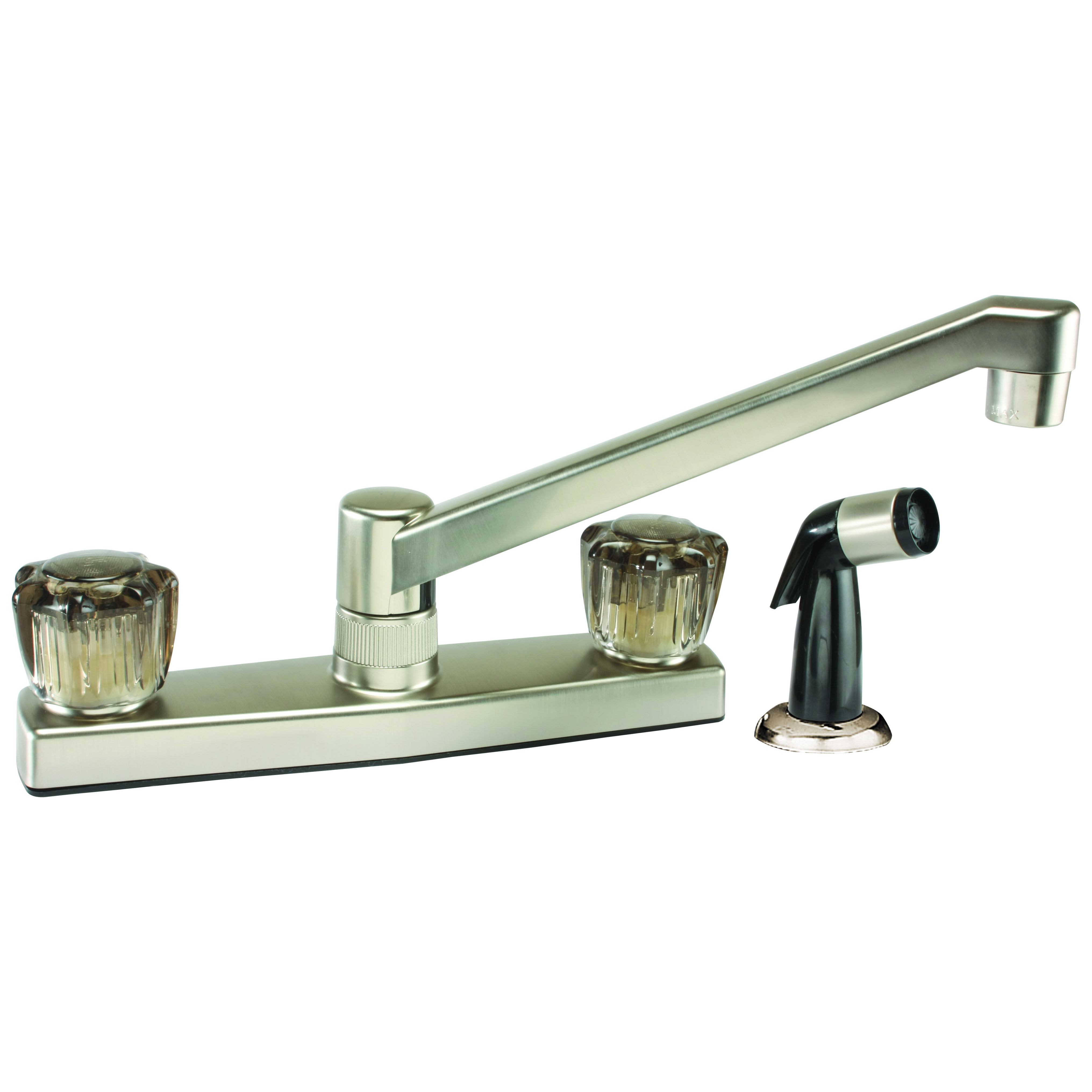 Picture of Boston Harbor JY8201SBN Kitchen Faucet, 1.8 gpm, 2-Faucet Handle, Brushed Nickel