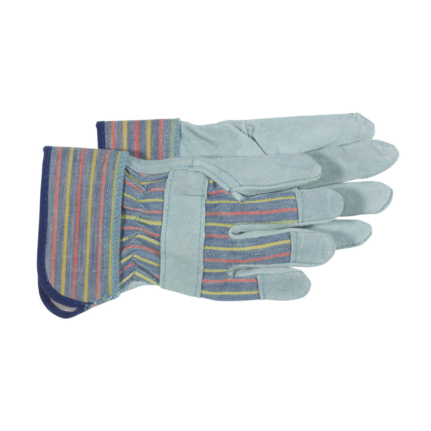 Picture of BOSS 4094K Welder Gloves, Wing Thumb, Rubberized Safety Cuff, Blue/Gray