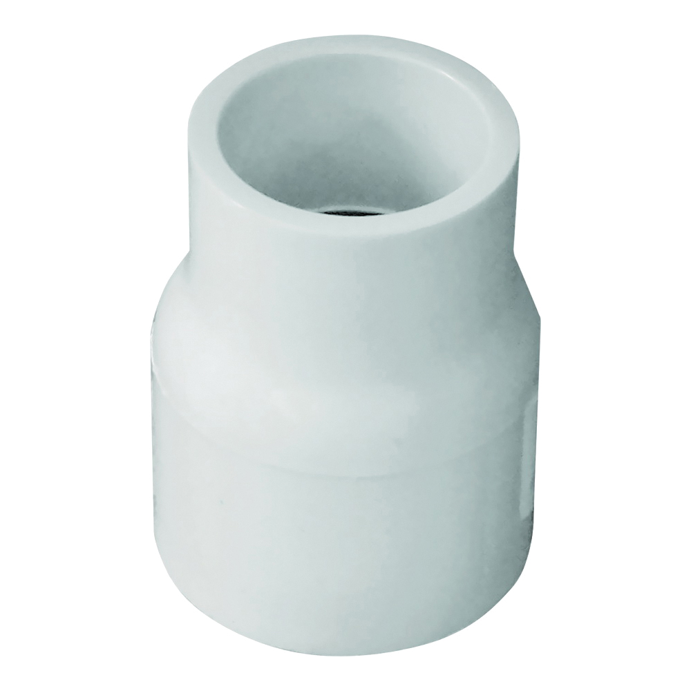 Picture of GENOVA 300 Series 30175 Pipe Reducing Coupler, 3/4 x 1/2 in, Slip Joint, White, SCH 40 Schedule, 480 psi Pressure