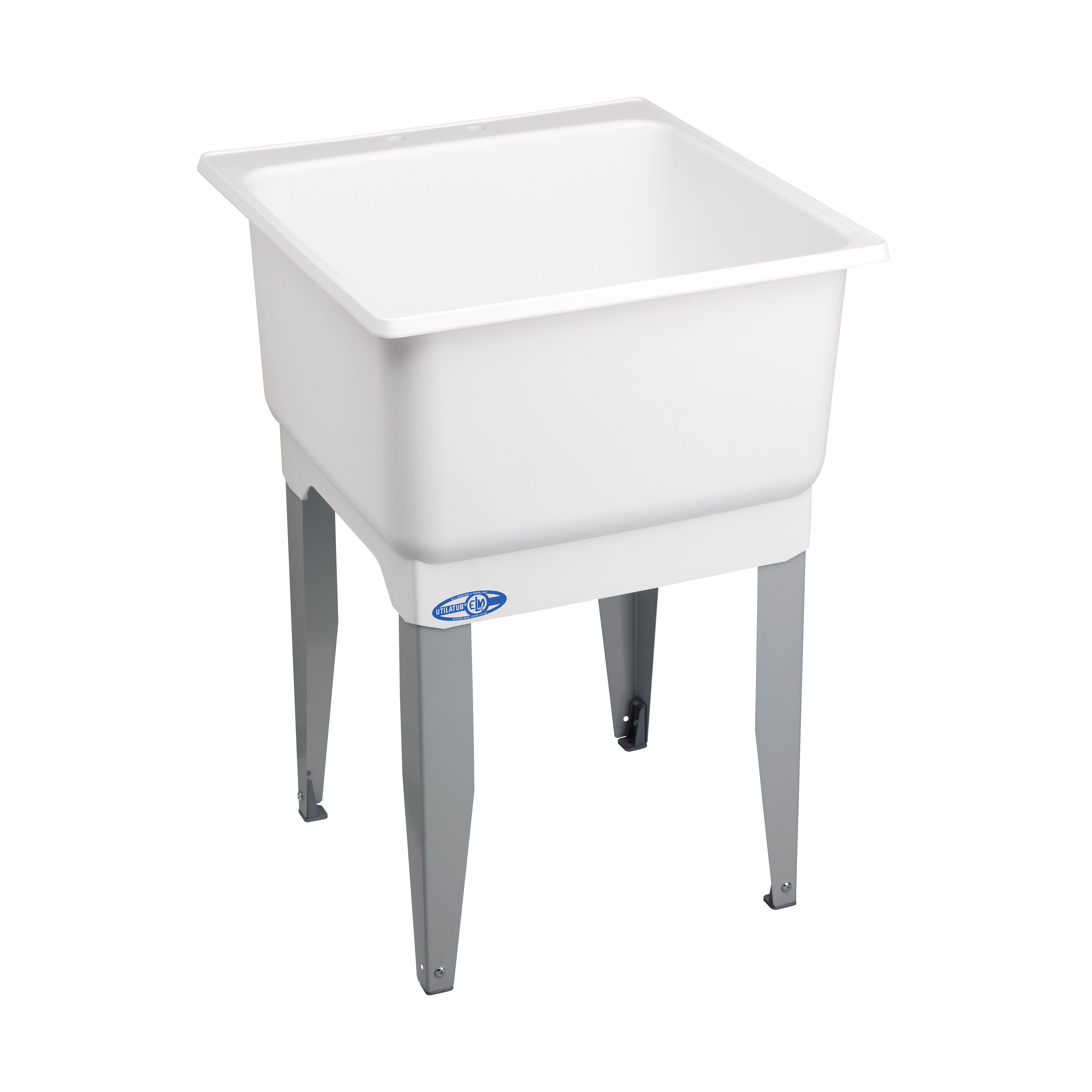 Picture of ELM UTILATUB 14 Laundry Tub, 20 gal Capacity, 33 in OAH, Polypropylene, White, Floor Mounting, 1-Bowl