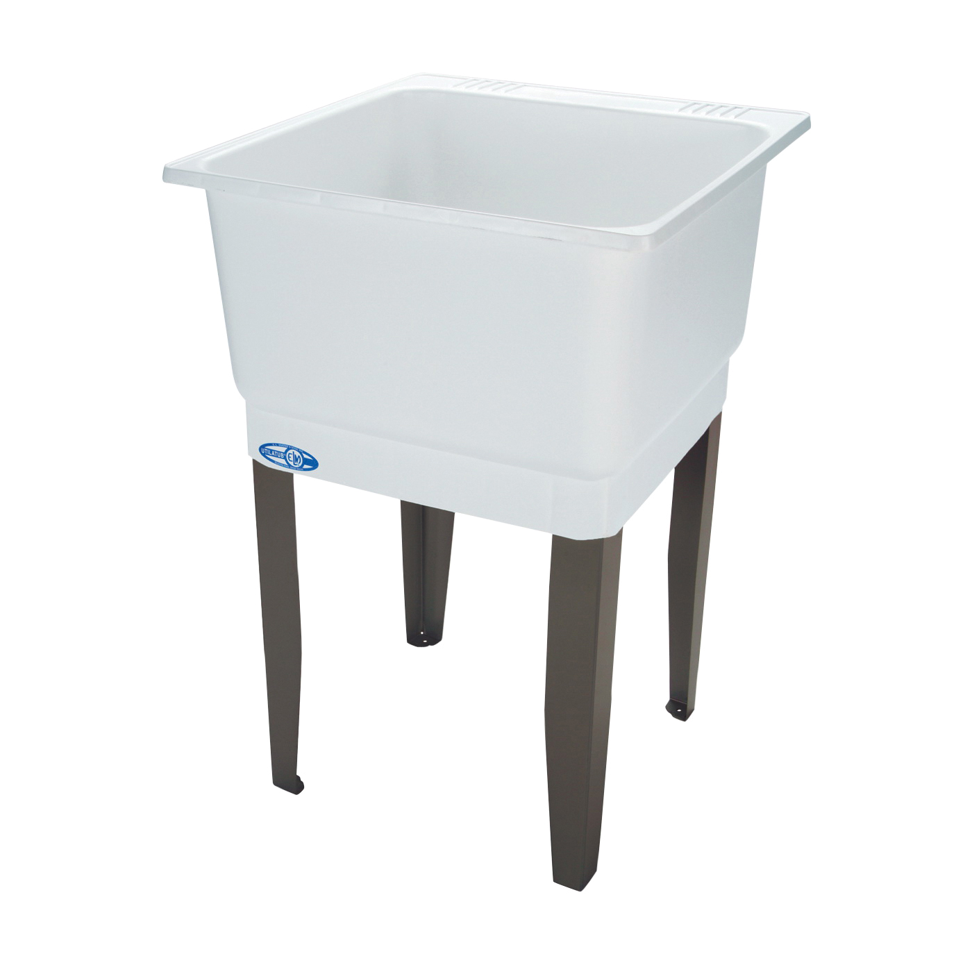 Picture of ELM UTILATUB 14K Laundry Tub, 20 gal Capacity, 23 in OAW, 25 in OAD, 33 in OAH, Co-Polypure, White, 1-Bowl