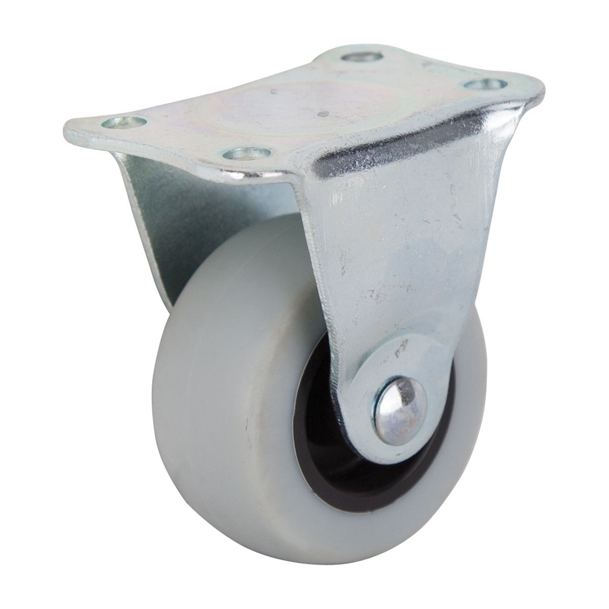 Picture of ProSource JC-N01-G Rigid Caster with Brake, 2 in Dia Wheel, Thermoplastic Rubber Wheel, Gray, 105 lb