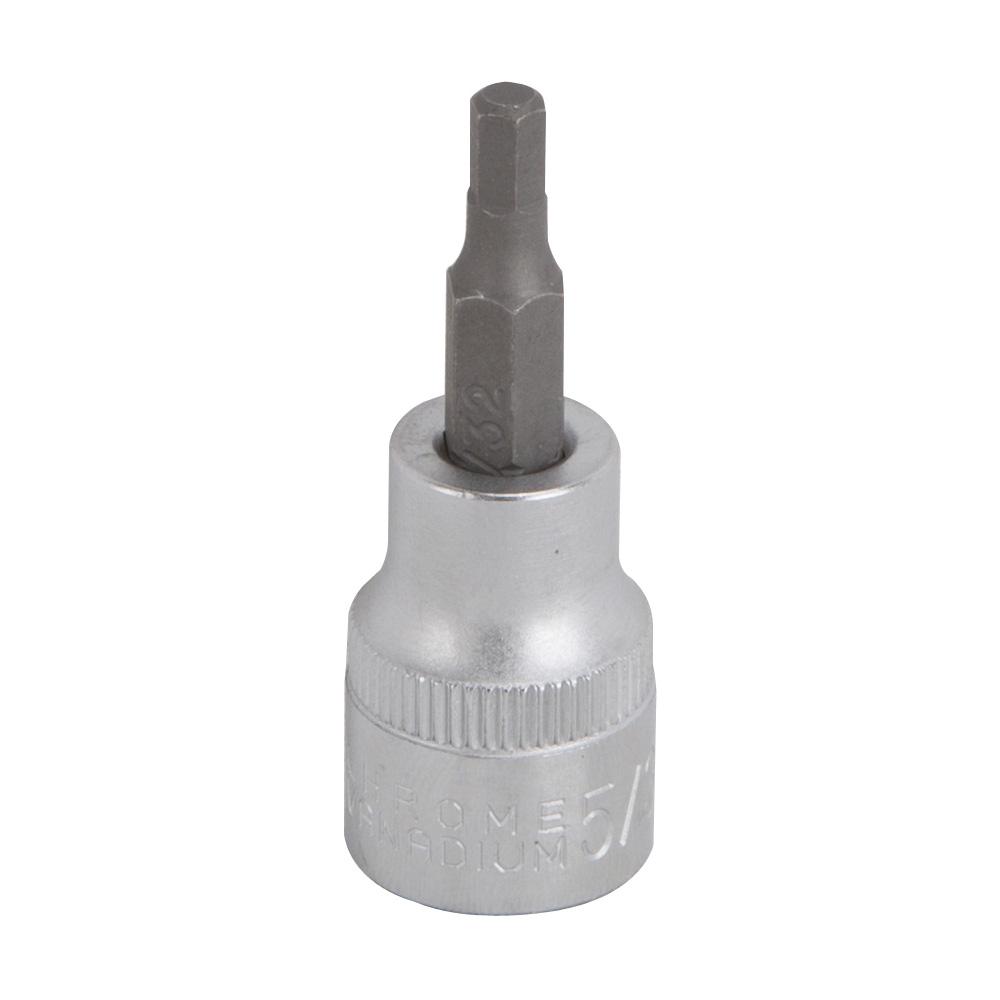 Picture of Vulcan 3506005520 Fractional Hex Bit Socket, 5/32 in Tip, 3/8 in Drive, Chrome Vanadium