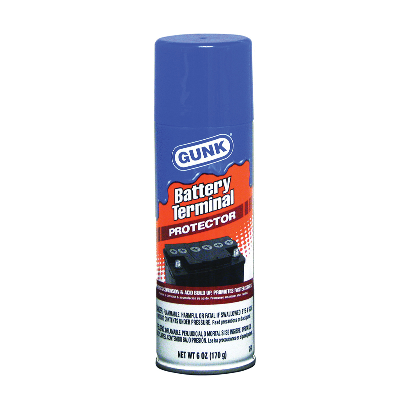 Picture of GUNK BTP6 Battery Terminal Protector, 6 oz Package, Aerosol Can, Liquid, Mineral Spirit
