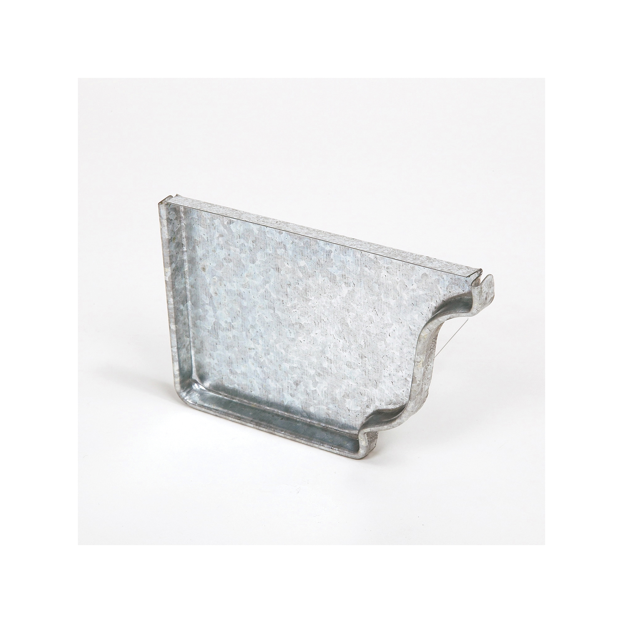 Picture of Amerimax 29205 Gutter End Cap, 5 in L, Galvanized Steel, For: 5 in K-Style Gutter System