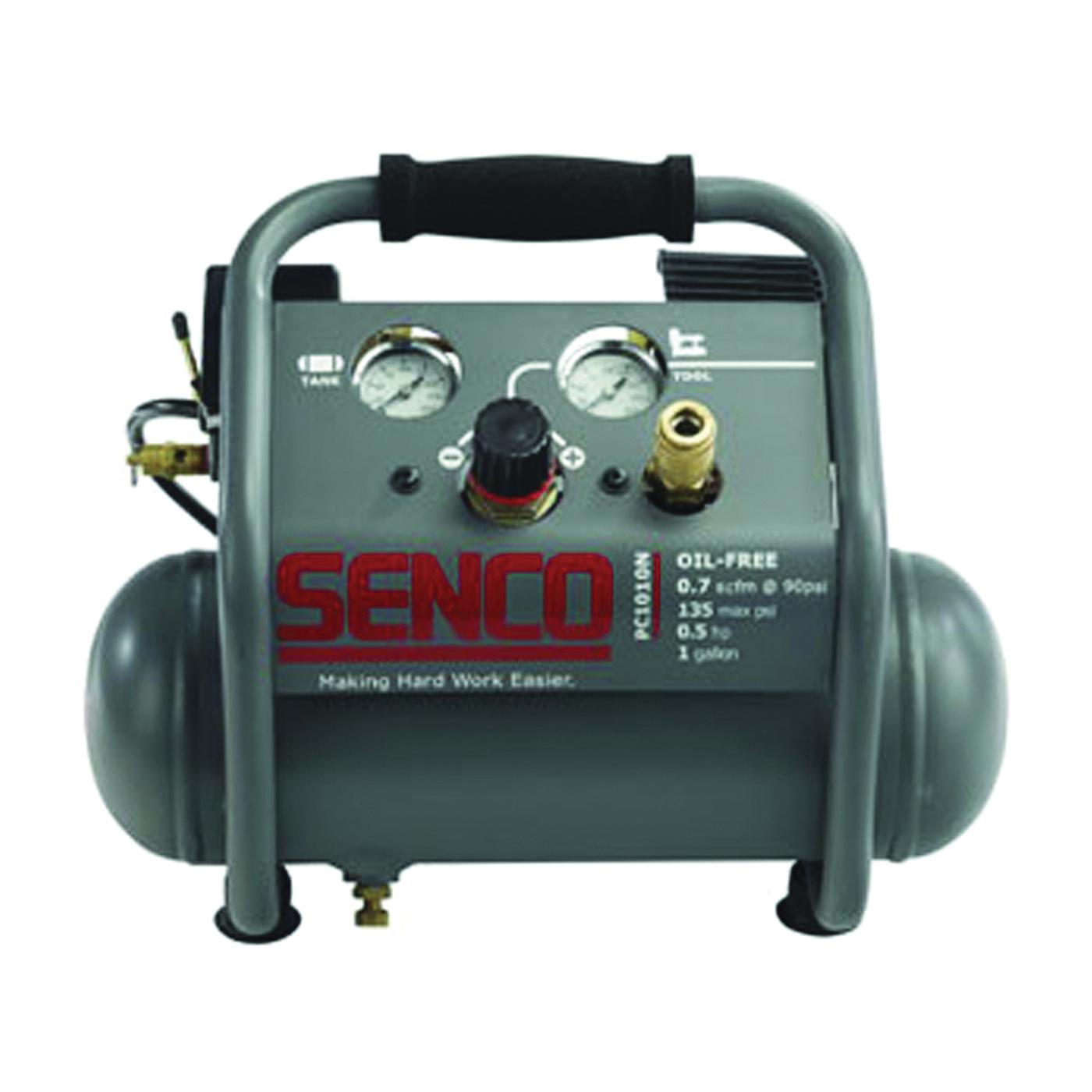 Picture of SENCO PC1010N Trim Air Compressor with Control Panel, 1 gal Tank, 0.5 hp, 115 V, 135 psi Pressure, 0.7 scfm Air