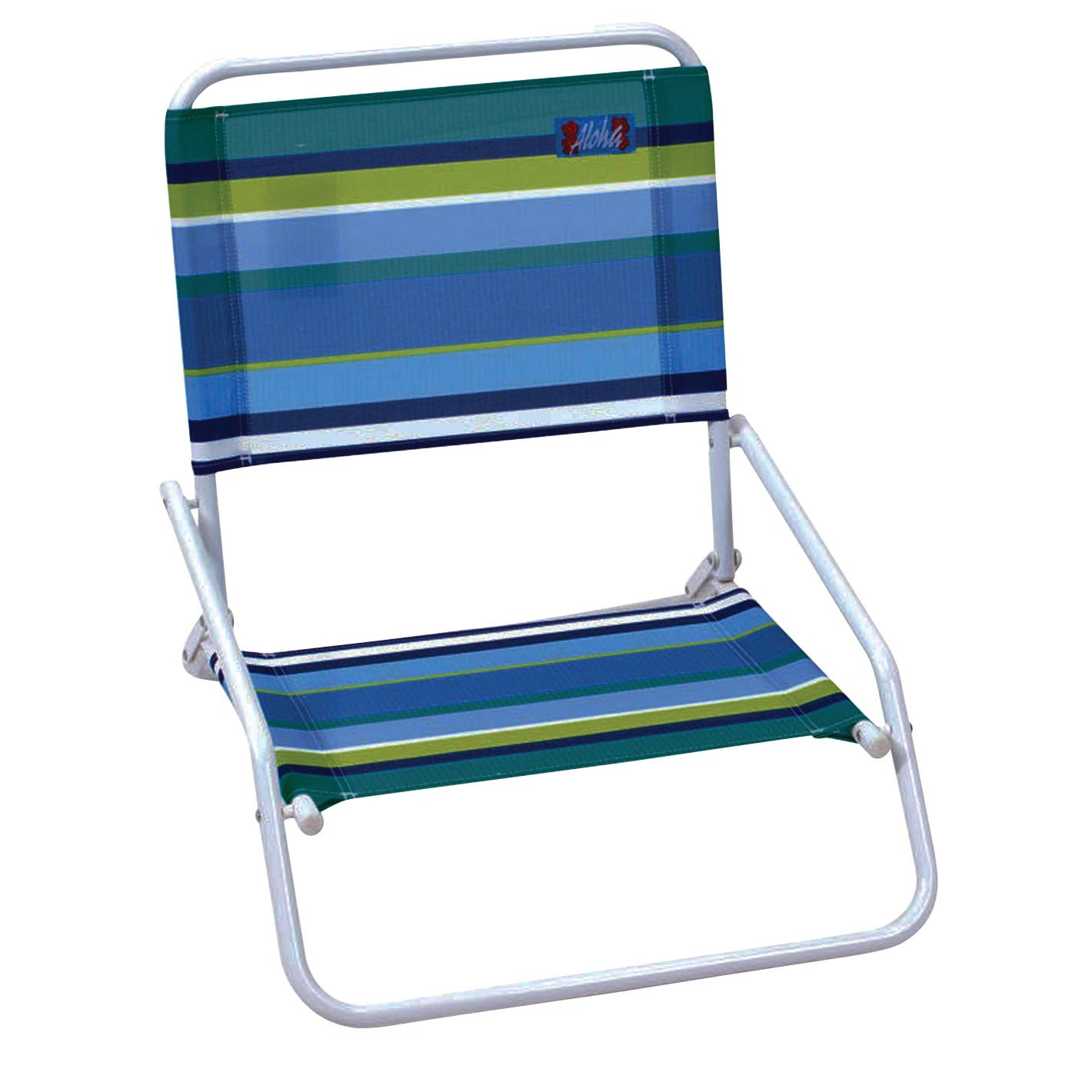 Picture of Rio Brands SC5601802/SC58017 1-Position Beach Chair, 20-1/4 in W, 23.62 in D, 22-1/2 in H, Steel Frame, White Frame