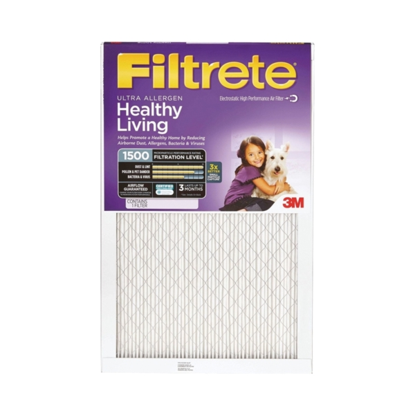 Picture of Filtrete 2005DC-6 Electrostatic Air Filter, 20 in L, 14 in W, 11 MERV, Fiber Filter Media
