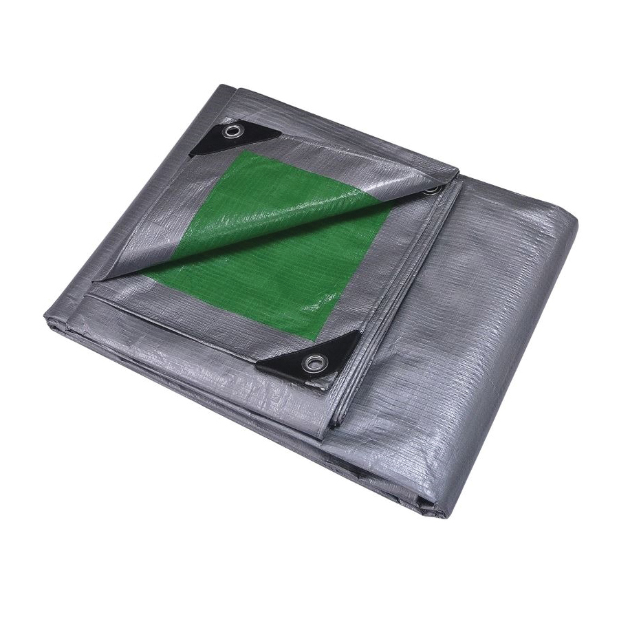 Picture of ProSource T2040GS140 Tarpaulin, 40 ft L, 20 ft W, 8 mil Thick, Polyethylene, Green/Silver