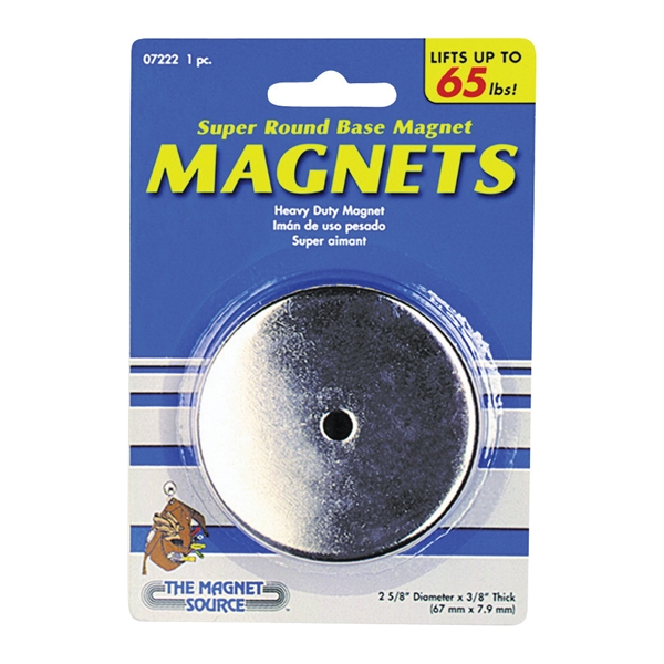 Picture of Magnet Source 07222 Round Base Magnet, Ceramic, 1 in ID x 2.618 in OD Dia, 3/8 in H