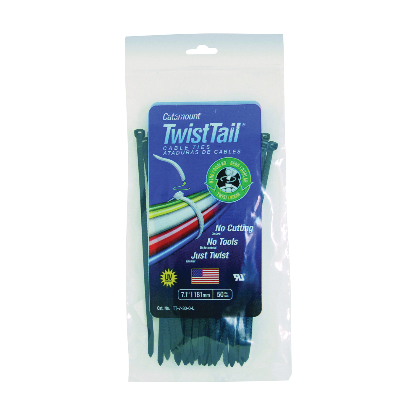 Picture of Catamount TT-7-30-0-L Cable Tie, Polyamide, Black
