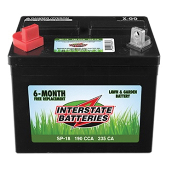 Picture of INTERSTATE BATTERIES SP-18 Lawn and Garden Battery, Lead-Acid