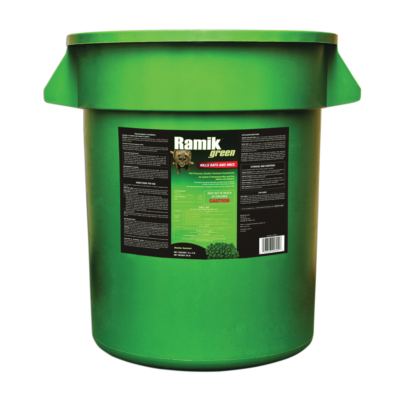 Picture of NEOGEN Ramik 116339 Mouse Killer, Nugget, 4 lb Package, Bucket