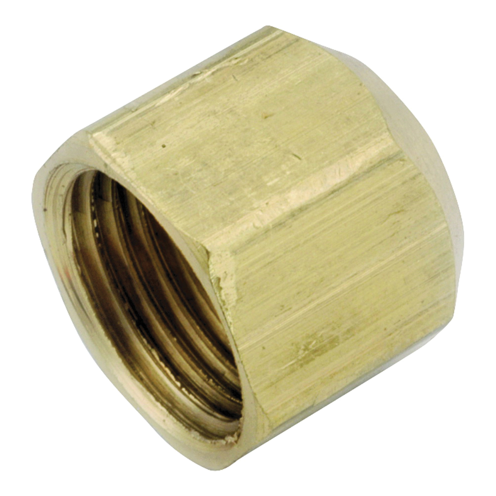 Picture of Anderson Metals 754040-06 Tube Cap, 3/8 in, Flare, Brass