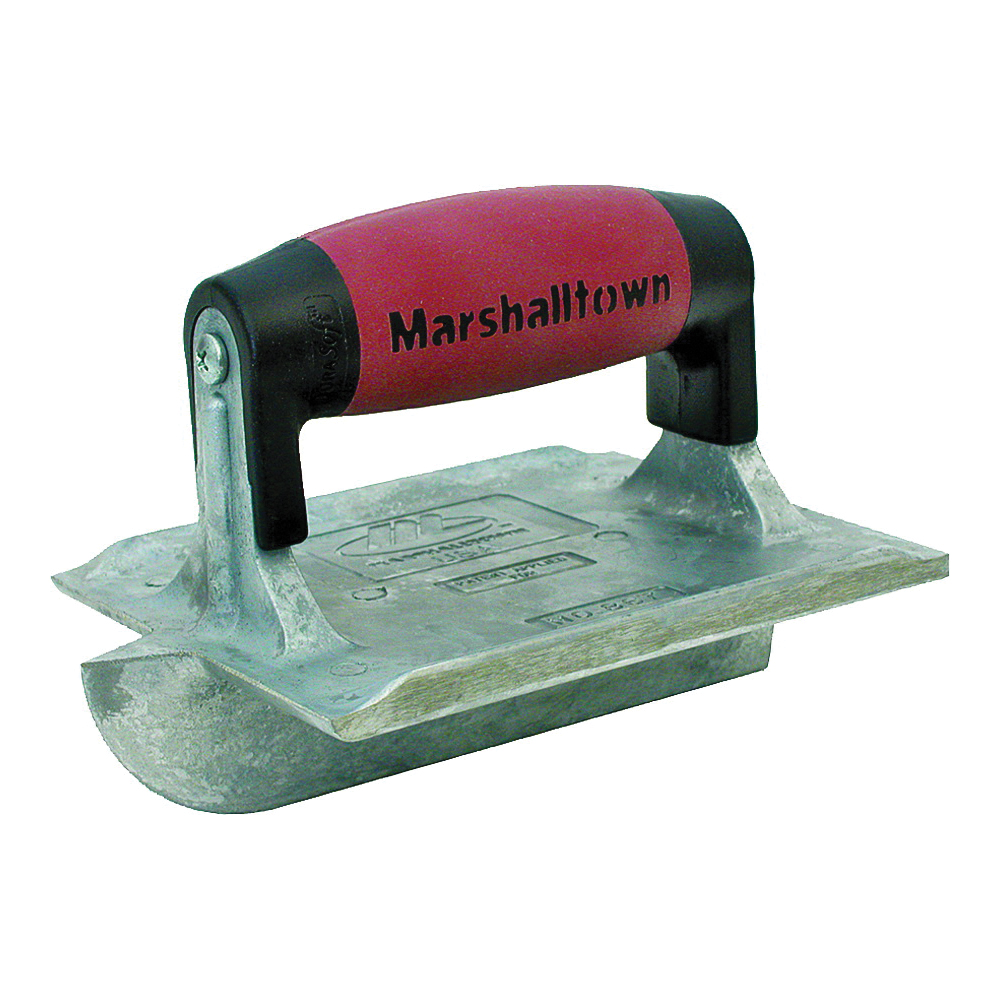 Picture of Marshalltown DuraSoft 834D Hand Groover, 6 in L Blade, 4-3/8 in W Blade, 1/4 in Radius, Zinc Blade
