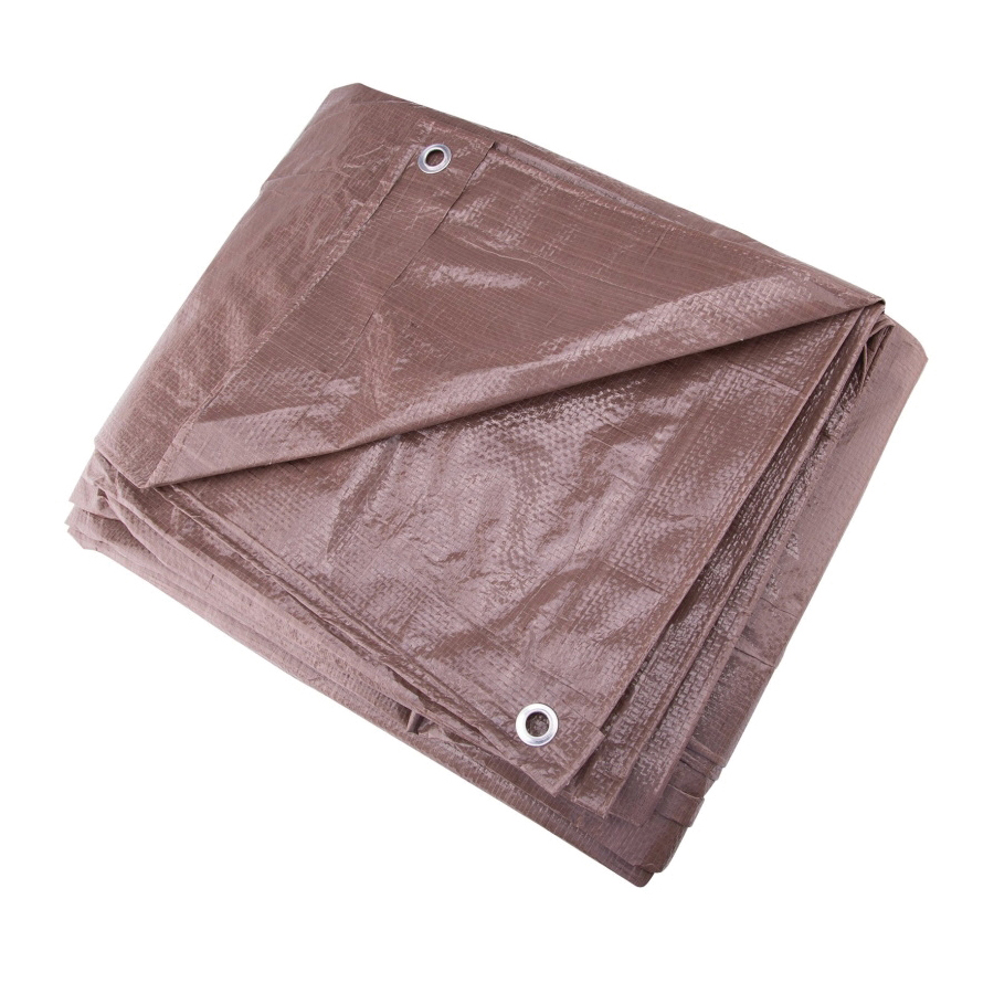 Picture of ProSource T1012BR90 Tarpaulin, 12 ft L, 10 ft W, 5 mil Thick, Polyethylene, Brown