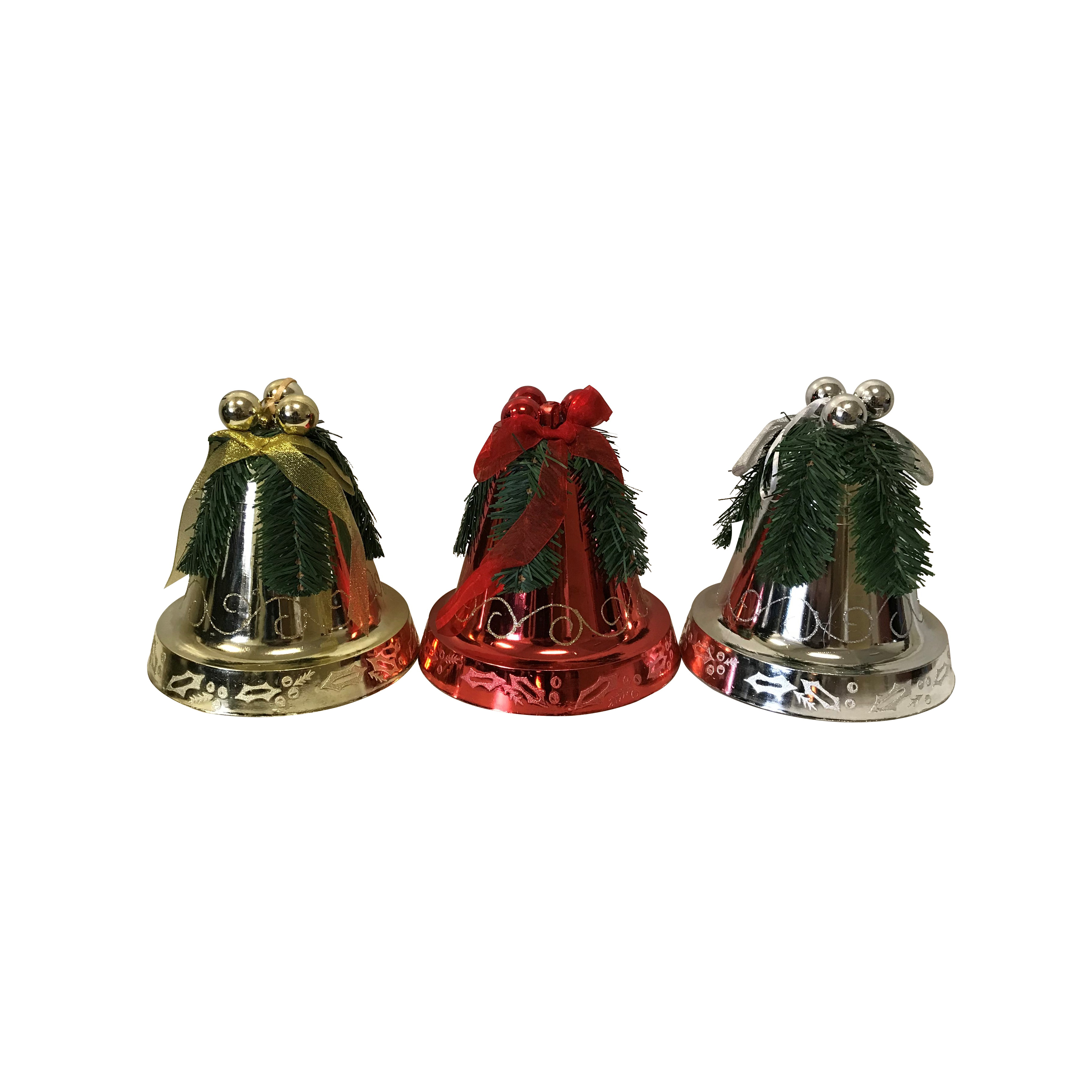 Picture of Santas Forest 99929 Shatterproof Decorated Bell Ornament, 200 mm H, Christmas Ornaments, PVC, Assorted, 8