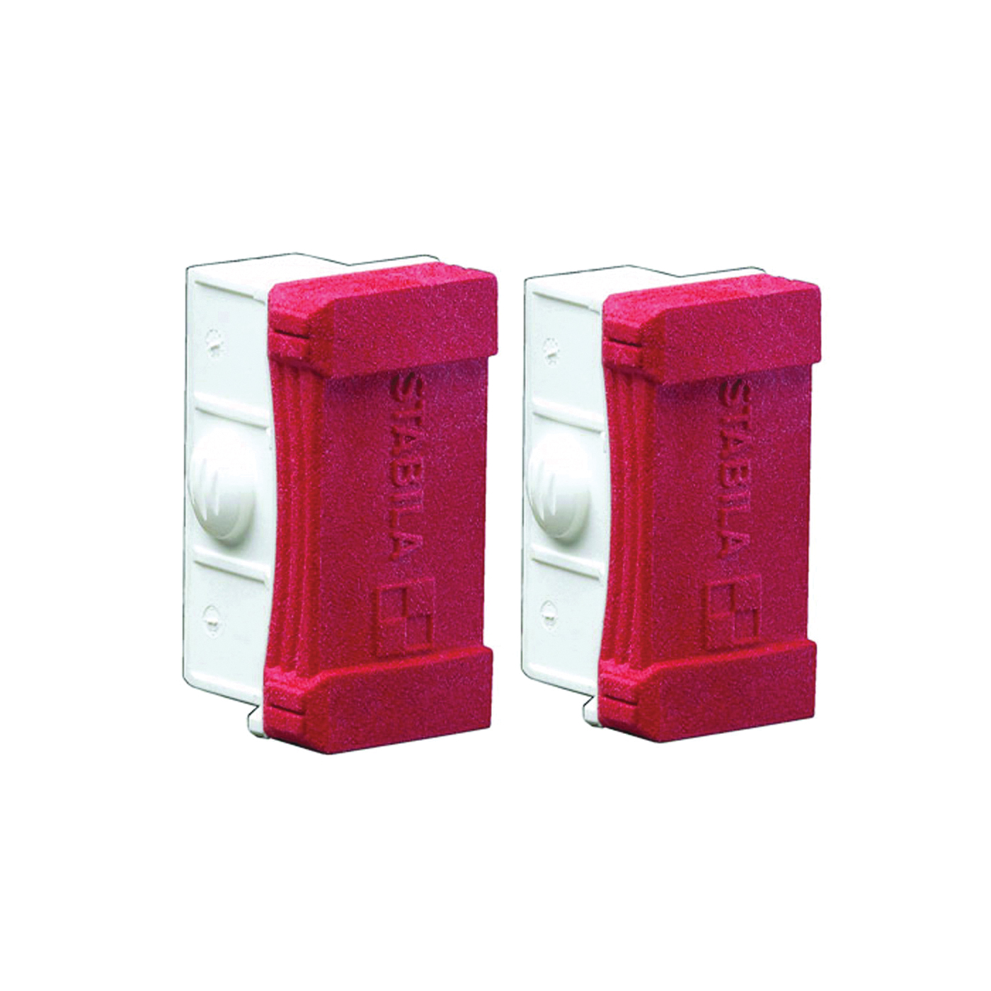 Picture of Stabila 20070 Level End Caps, 1.3 in L, Rubber, Red