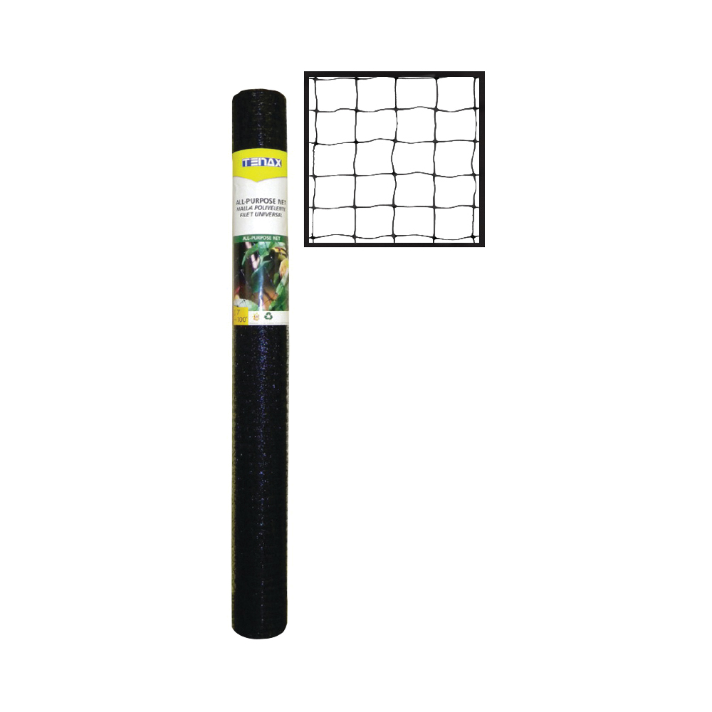 Picture of TENAX 2A140066 Protect Net, 100 ft L, 7 ft W, 0.79 x 0.79 in Mesh, Plastic, Black