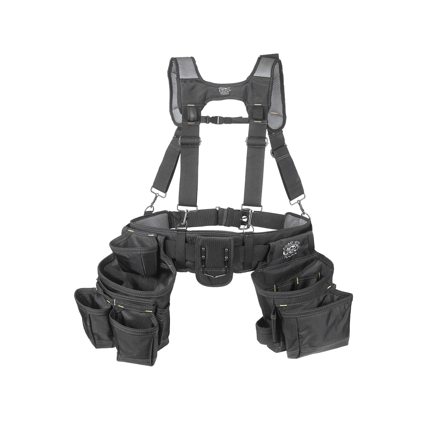 Picture of Dead On HDP400945 Carpenter's Suspension Rig, 52 in Waist, Poly Fabric, Black, 18 -Pocket