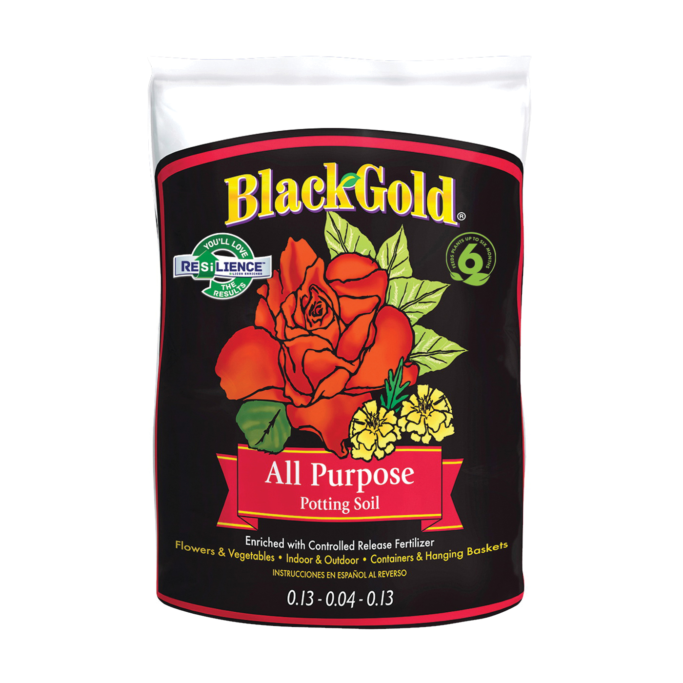 Picture of sun gro BLACK GOLD 1410102 16.0 QT P Potting Mix, Granular, Brown/Earthy, 120 Package, Bag