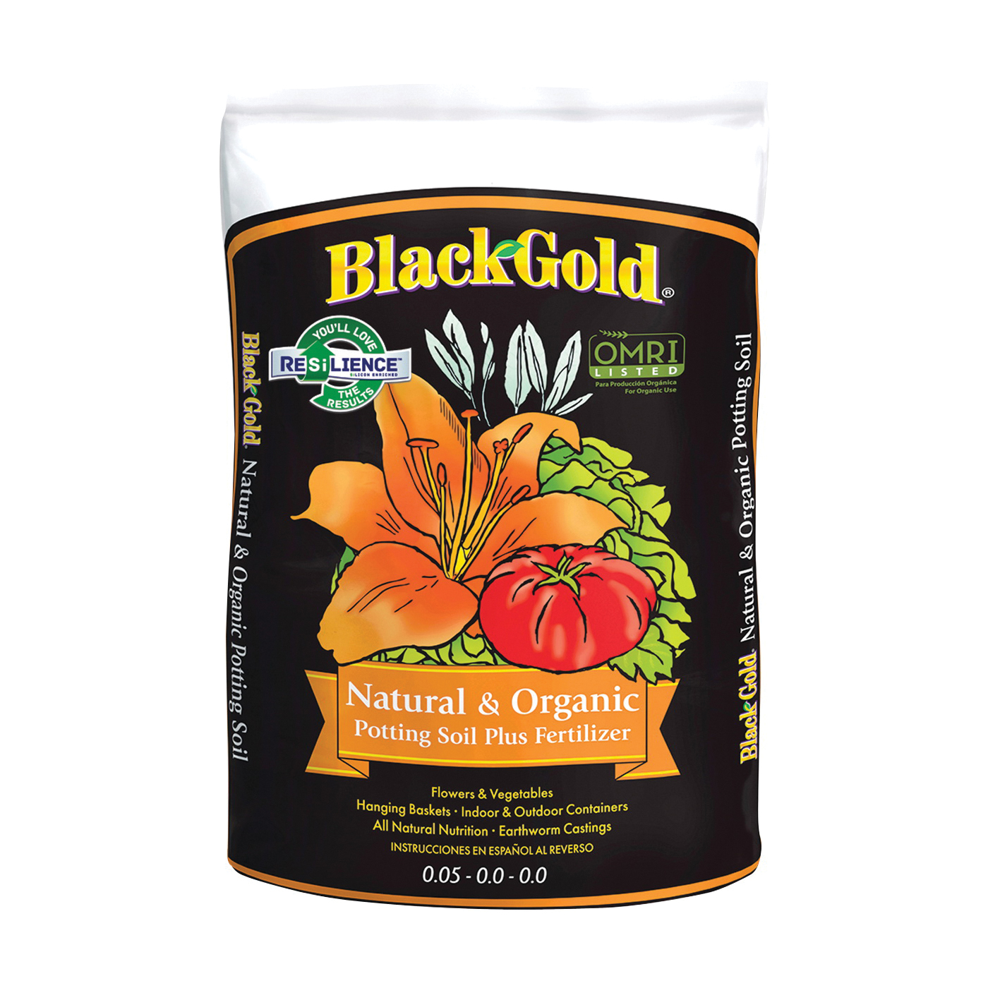 Picture of sun gro BLACK GOLD 140204016QTP Potting Mix, Granular, Brown/Earthy, 120 Package, Bag