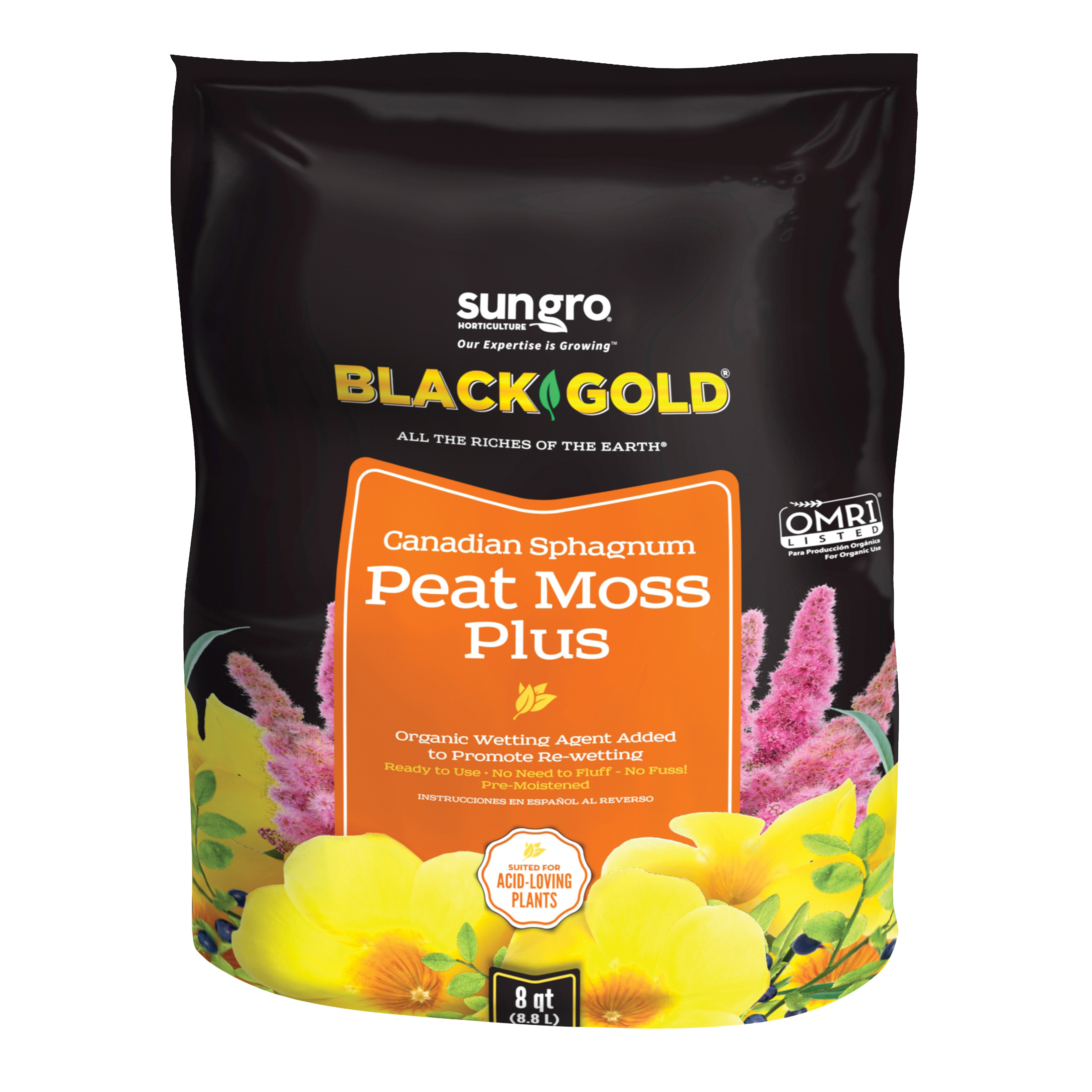 Picture of sun gro Sunshine 1410403 8 QT P Peat Moss, 8 qt Package, Bag